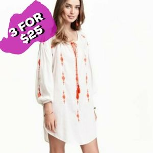 H&M Women's Embroidered Tunic Top